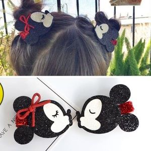 Disney's Minnie & Mickey Mouse   Sparkly Barrettes